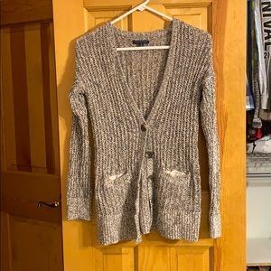 AE chunky knit long cardigan sweater with pockets!
